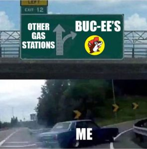 Bucees meme left exit 12 off ramp